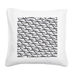School of Megalodon Sharks Square Canvas Pillow