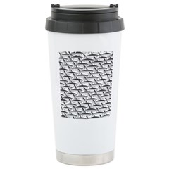 School of Megalodon Sharks Travel Mug