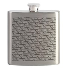 School of Megalodon Sharks Flask