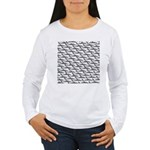 School of Megalodon Sharks Long Sleeve T-Shirt