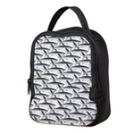 School of Megalodon Sharks Neoprene Lunch Bag