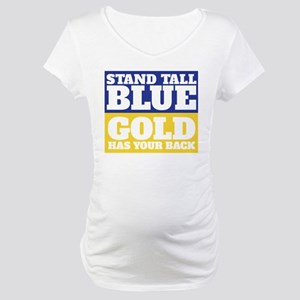 Stand Tall, Blue Maternity T-Shirt