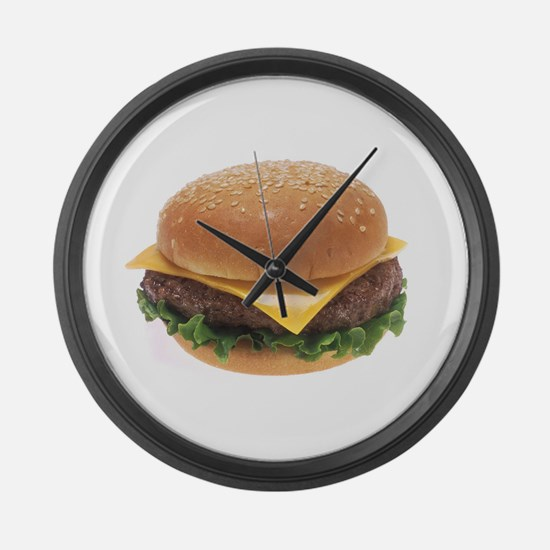 Cheeseburger Large Wall Clock