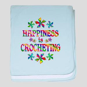 Happiness is Crocheting baby blanket