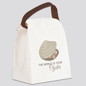 World Is Oyster  Canvas Lunch Bag