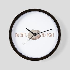 No Pearl Wall Clock