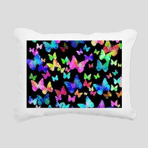 Psychedelic Butterflies Rectangular Canvas Pillow