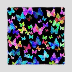 Psychedelic Butterflies Queen Duvet