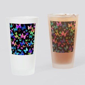 Psychedelic Butterflies Drinking Glass