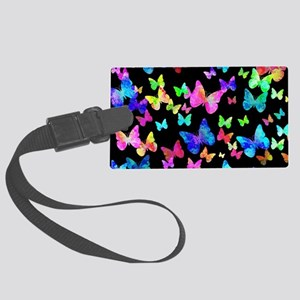 Psychedelic Butterflies Luggage Tag