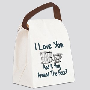 I LOVE YOU A BUSHEL AND PECK Canvas Lunch Bag