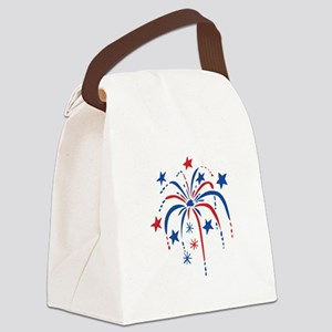 Fireworks Canvas Lunch Bag
