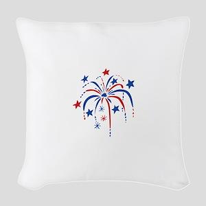 Fireworks Woven Throw Pillow