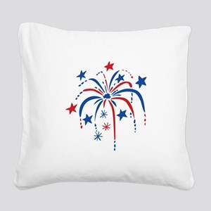Fireworks Square Canvas Pillow