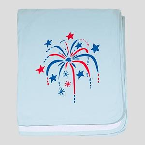 Fireworks baby blanket