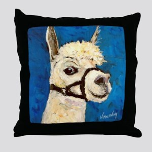 Alpaca Poser Throw Pillow