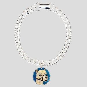 Alpaca Poser Charm Bracelet, One Charm