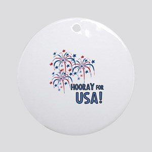 Hooray For USA Ornament (Round)