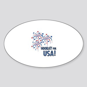 Hooray For USA Sticker