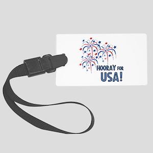 Hooray For USA Luggage Tag