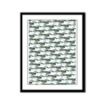 Dunkleosteus pattern Framed Panel Print