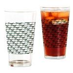 Dunkleosteus pattern Drinking Glass