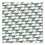 Dunkleosteus pattern Square Car Magnet 3