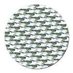 Dunkleosteus pattern Round Car Magnet