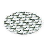 Dunkleosteus pattern Oval Car Magnet