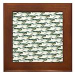 Dunkleosteus pattern Framed Tile