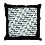 Dunkleosteus pattern Throw Pillow