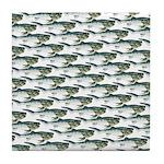 Dunkleosteus pattern Tile Coaster