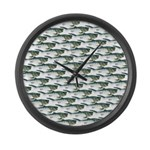 Dunkleosteus pattern Large Wall Clock