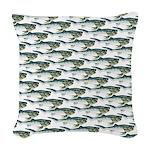 Dunkleosteus pattern Woven Throw Pillow
