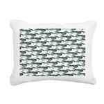 Dunkleosteus pattern Rectangular Canvas Pillow