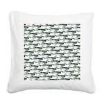 Dunkleosteus pattern Square Canvas Pillow