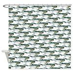 Dunkleosteus pattern Shower Curtain