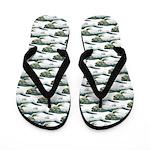 Dunkleosteus pattern Flip Flops