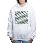 Dunkleosteus pattern Women's Hooded Sweatshirt