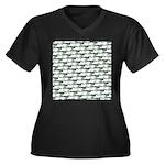 Dunkleosteus pattern Plus Size T-Shirt