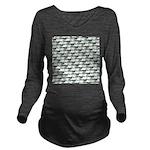 Dunkleosteus pattern Long Sleeve Maternity T-Shirt