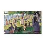 Dog running in Seurat's painting Decal Wall Sticke