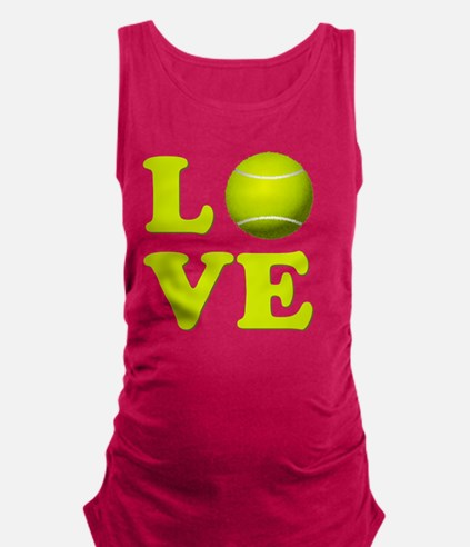 I Love Tennis Maternity Tank Top