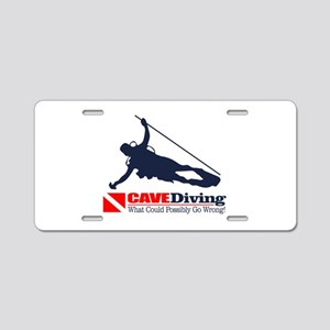 CAVEDiving 2 Aluminum License Plate