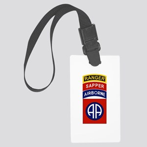 82nd Airborne Ranger Sapper Large Luggage Tag