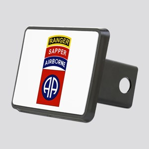 82nd Airborne Ranger Sappe Rectangular Hitch Cover