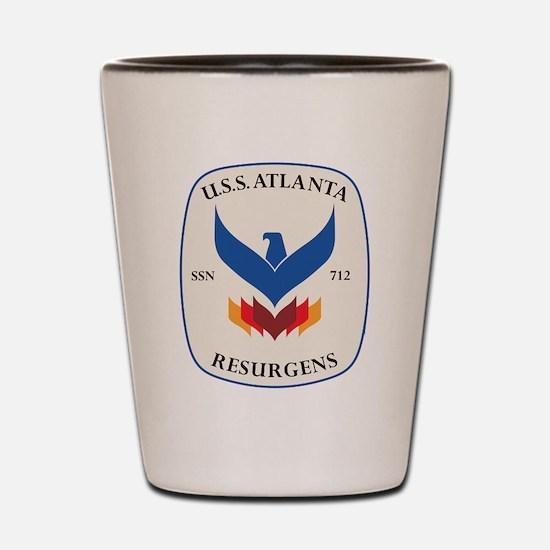 Uss Atlanta Ssn 712 Shot Glass