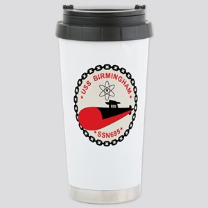 Uss Birmingham Ssn 695 Stainless Steel Travel Mug