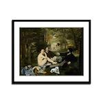 Jack Russel In Manet Famous Framed Panel Print
