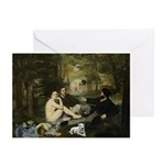 Jack Russel In Manet Famous Greeting Cards